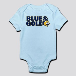 Marquette Golden Eagles Blue a Baby Light Bodysuit