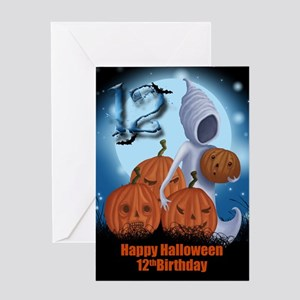 12th Birthday Halloween Card Greeting Cards