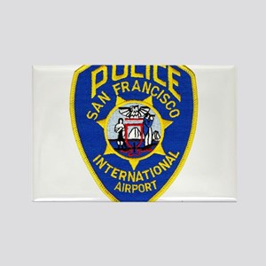 SFO Airport Police Rectangle Magnet (100 pack)