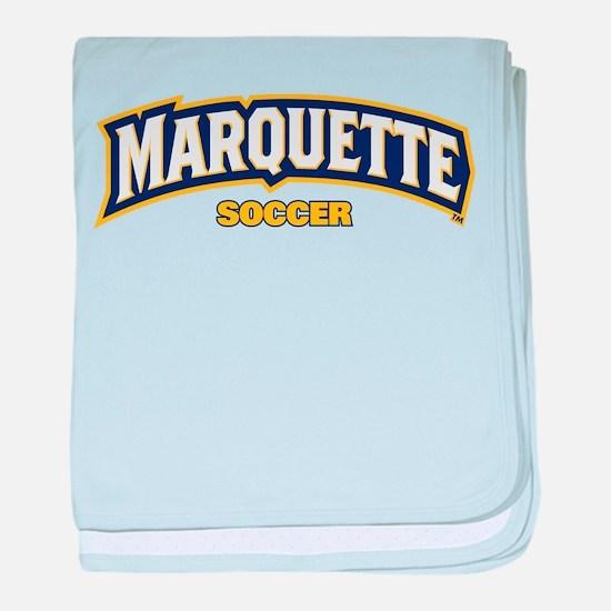 Marquette Golden Eagles Soccer baby blanket