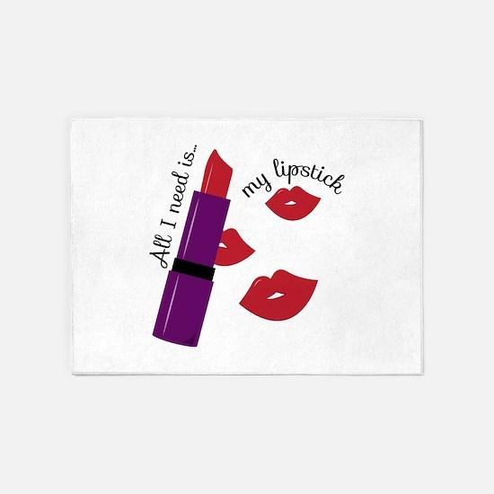 My Lipstick 5'x7'Area Rug