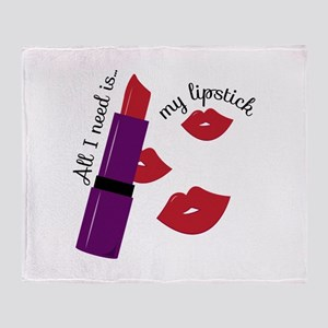 My Lipstick Throw Blanket