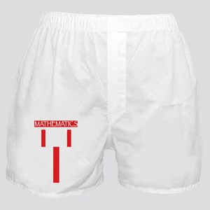 mathematics sym red Boxer Shorts