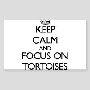 Keep Calm by focusing on Tortoises Sticker