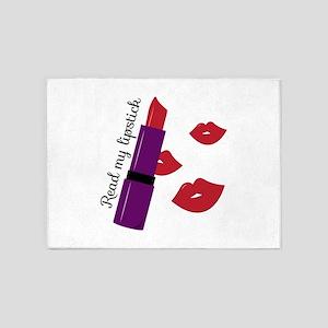 Read My Lipstick 5'x7'Area Rug