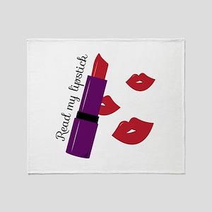 Read My Lipstick Throw Blanket