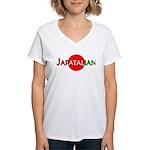 Japatalian Women's V-Neck T-Shirt