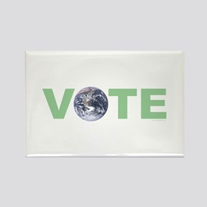 Vote Green Rectangle Magnet