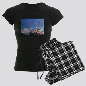 Toronto Neon Shimmering Skyl Women's Dark Pajamas