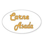 Carne Asada Sticker (Oval 50 pk)