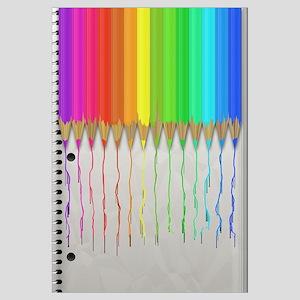 Melting Rainbow Pencils Wall Art