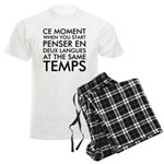 Thinking in French and Englis Men's Light Pajamas
