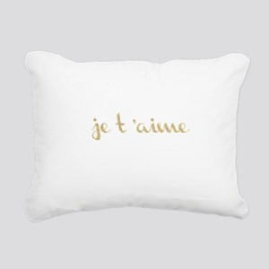 je t'aime Rectangular Canvas Pillow
