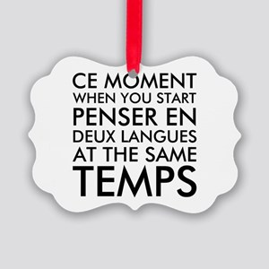 Thinking in French and English Picture Ornament