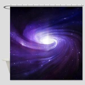 Purple Vortex Shower Curtain