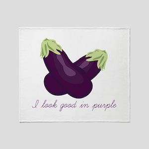 Purple Veggie Throw Blanket