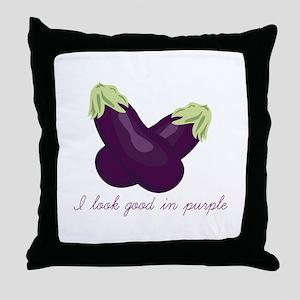 Purple Veggie Throw Pillow
