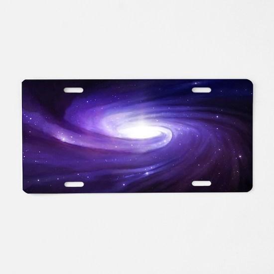 Purple Vortex Aluminum License Plate