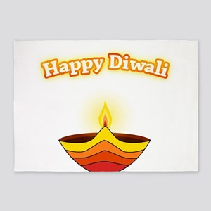Happy Diwali 5'x7'Area Rug