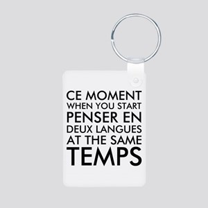 Thinking in French and English Keychains