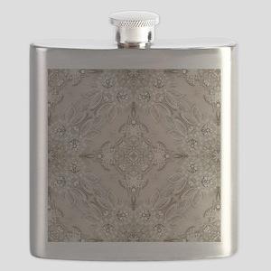 glamorous girly Rhinestone lace pearl  Flask