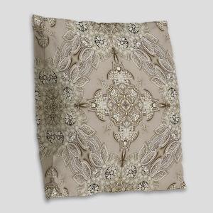 glamorous girly Rhinestone lac Burlap Throw Pillow