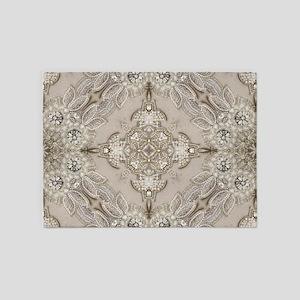 glamorous girly Rhinestone lace pea 5'x7'Area Rug