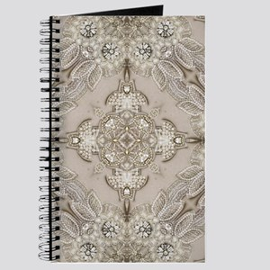 glamorous girly Rhinestone lace pearl Journal