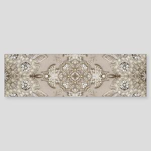 glamorous girly Rhinestone lace pea Bumper Sticker