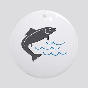 Jumping Fish Ornament (Round)