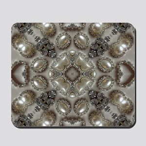 girly vintage pearl diamond glamorous Mousepad