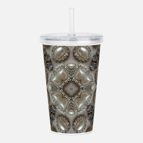 girly vintage pearl di Acrylic Double-wall Tumbler