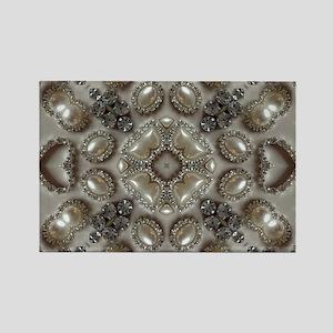 girly vintage pearl diamond glamorous Magnets