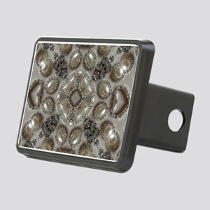 girly vintage pearl diamon Rectangular Hitch Cover