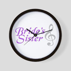 Bride's Sister(clef) Wall Clock
