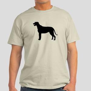 Irish Wolfhound Silhouette Light T-Shirt