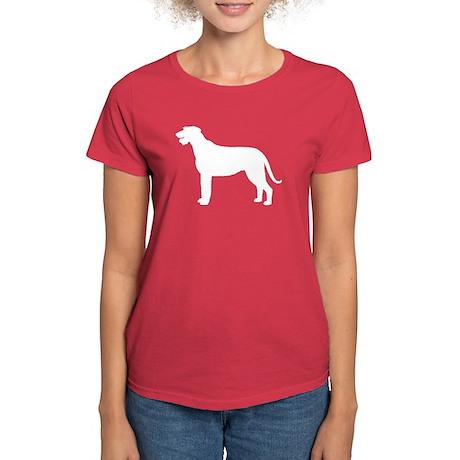 Irish Wolfhound Silhouette Women's Dark T-Shirt