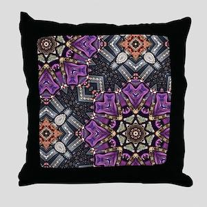 purple diamond bling glamorous Throw Pillow