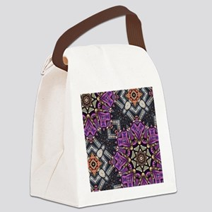 purple diamond bling glamorous Canvas Lunch Bag
