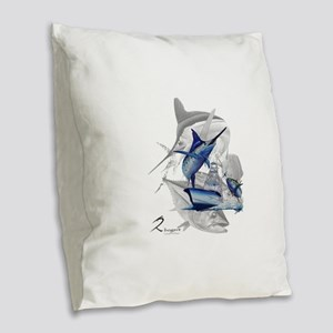 Offshore Burlap Throw Pillow