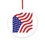 Flag Ornament (Round)