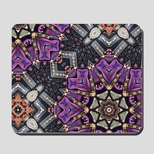 purple diamond bling glamorous Mousepad