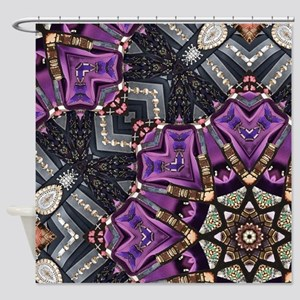 purple diamond bling glamorous Shower Curtain
