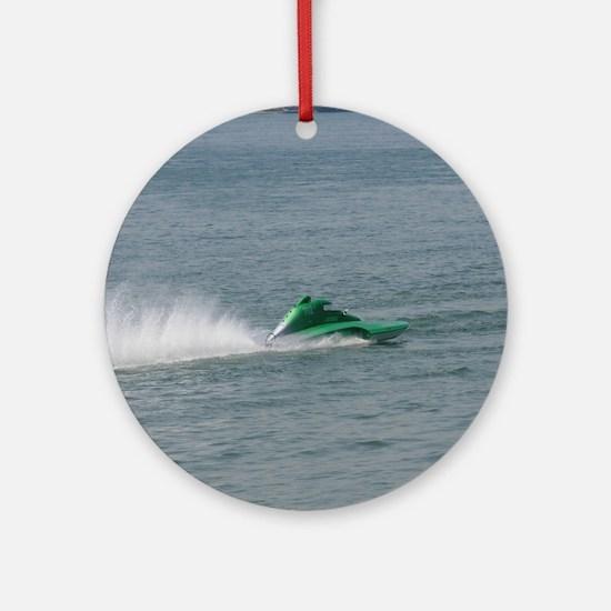 Racing Hydroplane Ornament (Round)
