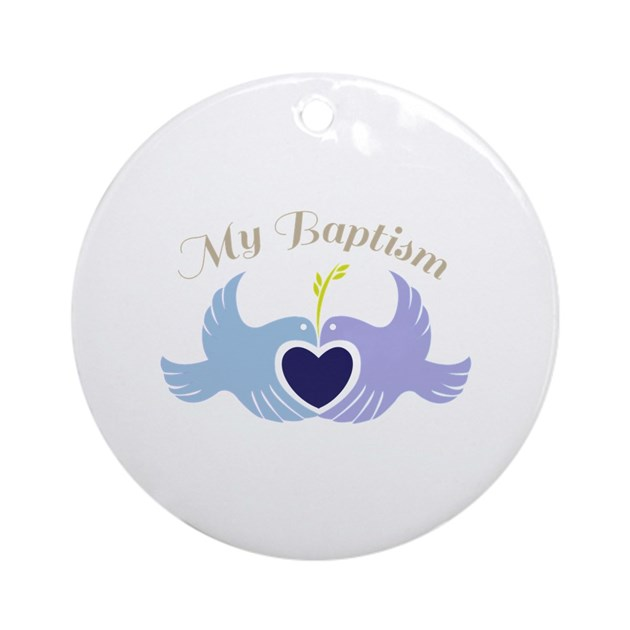 Baptism Ornament Round Glass: My Baptism Ornament (Round) By Windmill15