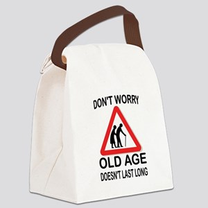 OLD AGE Canvas Lunch Bag
