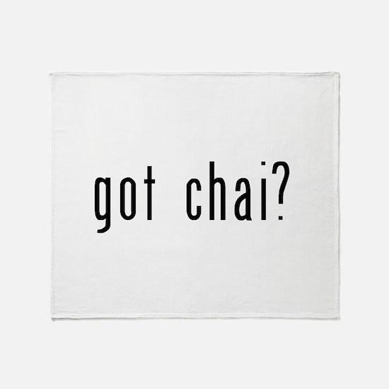 got chai black.png Throw Blanket