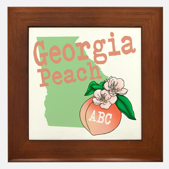 Georgia Peach Framed Tile