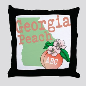 Georgia Peach Throw Pillow
