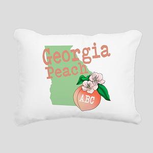 Georgia Peach Rectangular Canvas Pillow